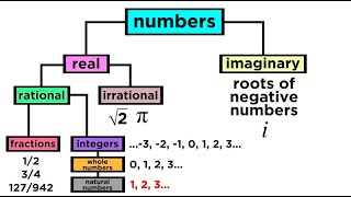 What are the Types of Numbers? Real vs. Imaginary, Rational vs. Irrational