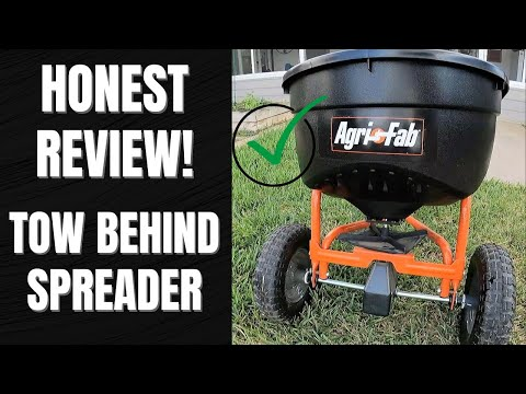 Honest review:  Agri-Fab 45-0463 130-Pound Tow Behind Broadcast Spreader!