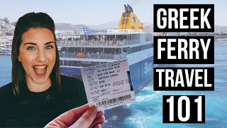 EVERYTHING YOU NEED TO KNOW ABOUT GREEK FERRY TRAVEL   Santorini to Athens on the BLUE STAR FERRY