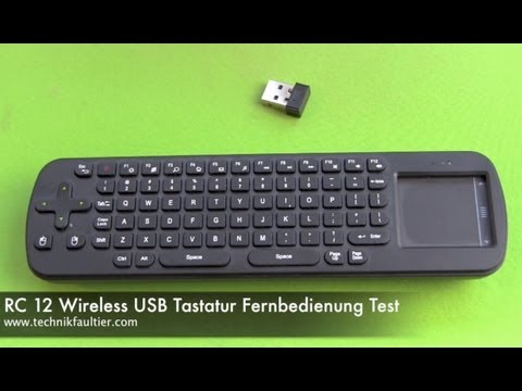 RC 12 Wireless USB Tastatur Fernbedienung Test