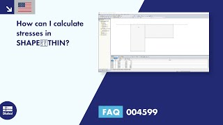 FAQ 004599 | How can I calculate stresses in SHAPE‑THIN?
