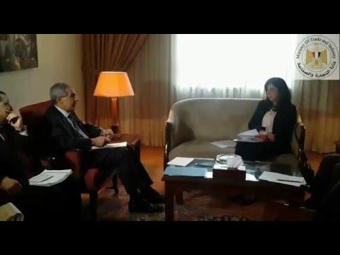 مباحثات الوزير/طارق قابيل خلال المجلس الإقتصادى والإجتماعى بجامعة الدول العربية