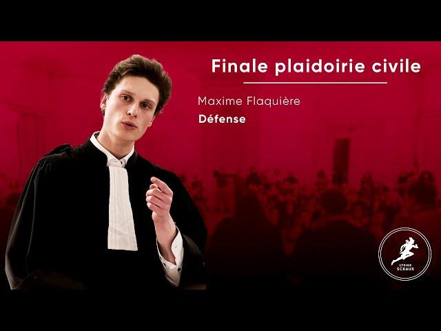 Maxime Flaquiere Finale Lysias Sceaux 2020 Plaidoirie Civile