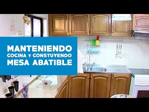 ¿Cómo mantener la cocina y construir una mesa abatible?