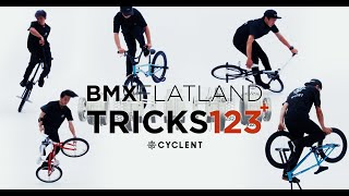 BMX FLATLAND TRICKS 123+ CYCLENT / How to Freestyle for Beginners フラットランド 基本技〜応用技 初心者必見トリック
