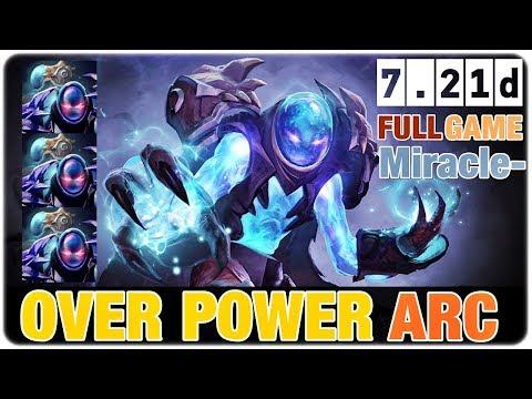 Miracle- ARC WARDEN Over Power Hero in Dota 2 7.21d
