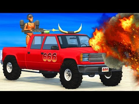 EPIC Car Hunt (Hunting Cars Crashes) BeamNG.Drive | CrashTherapy