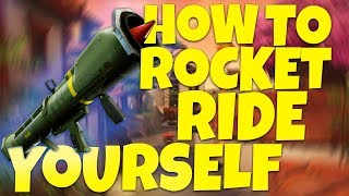HOW TO ROCKER RIDE YOURSELF! FORTNITE MONTAGE! BANDAN CLAN