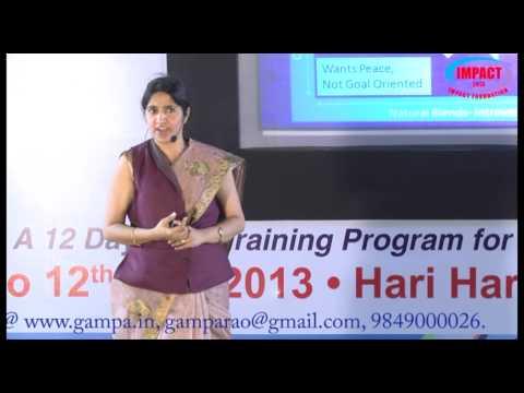 Know Your Personality|Padma Pothukuchi|TELUGU IMPACT Hyd 2013