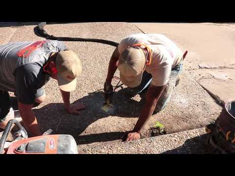 Bedlam Concrete Lifting was called to Polylevel a Concrete Driveway at a residence in Oklahoma City, Ok