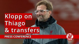 Klopp on Thiago and potential January signings
