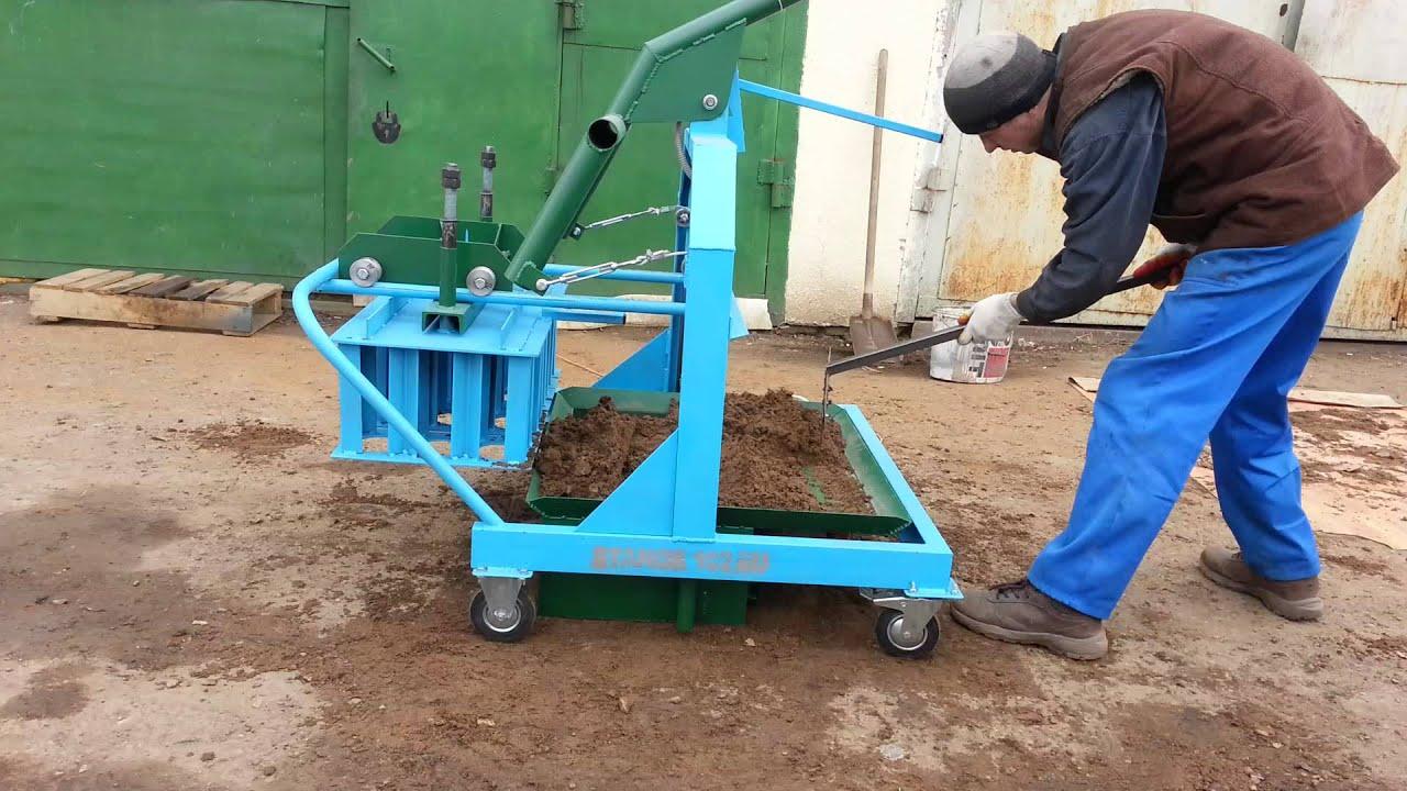 производство пескоблоков в домашних условиях