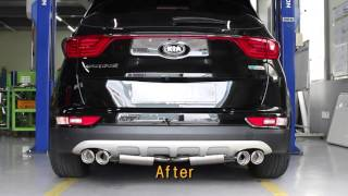Kia motor 2016 All new sportage R exhaust system