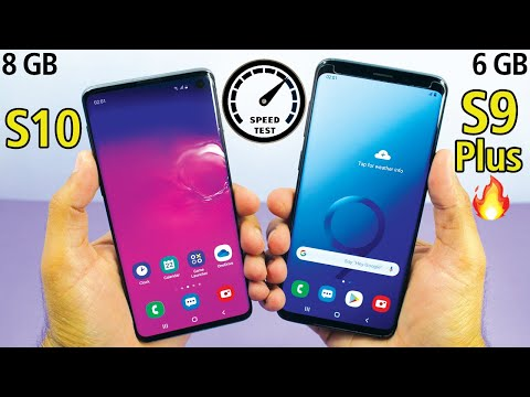 Download Samsung Galaxy S10 vs Samsung Galaxy S9 Plus Speed Test! *WOW*😱 Mp4 HD Video and MP3