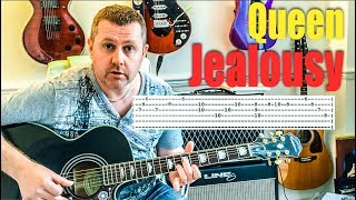 Queen - Jealousy - Acoustic Guitar Lesson From Queen Jazz Album Brian May Freddie Mercury