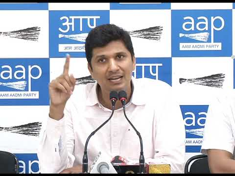 AAP Chief Spokesperson Briefs Media on cutting 16500 tress by Central Govt in Delhi