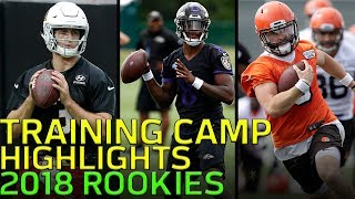 First Look at Notable Rookies in Training Camp: Jackson, Rosen, Mayfield & More! | NFL Highlights