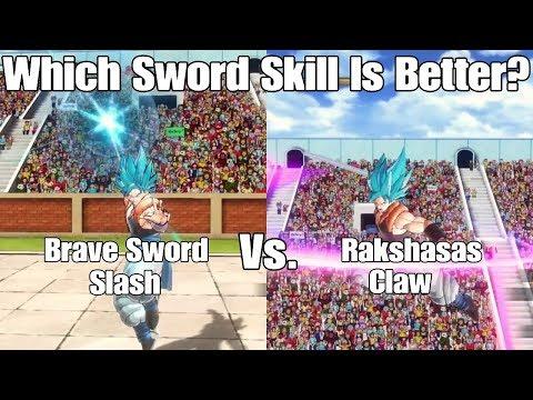 Xenoverse 2 DLC 5 Skill Test Brave Sword Slash Vs. Rakshasas Claw! Rakshasa Claw Is Actually Useful?