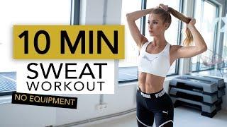 10 MIN CALORIE BURN | Full Body Sweat For Fat Burning  // No Equipment | Pamela Reif