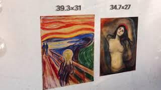 Картины-наклейки (искусство репродукции стены плакаты) Эмоции Крик Мадонна Эдвард Мунк