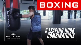 Boxing Leaping Hook | 5 POWERFUL Combinations by Drian Francisco | Evolve University