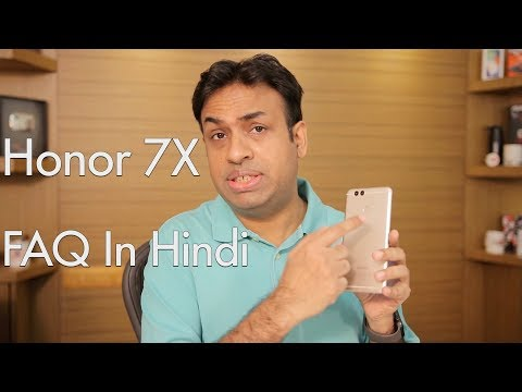 Honor 7X Smartphone Frequently Asked Questions (Hindi Version)