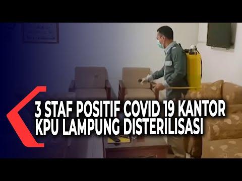 tiga staf positif covid kantor kpu provinsi lampung disterilisasi