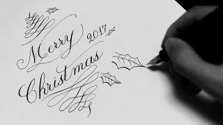 [ASMR] Merry Christmas Card 2017 Calligraphy