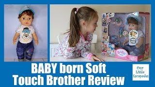 BABY born Soft Touch Brother Unboxing Review