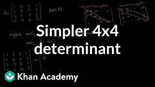 Linear Algebra: Simpler 4x4 determinant