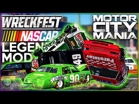 NASCAR Legends: Motor City Mania! | Wreckfest