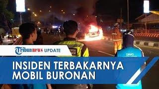 VIDEO: Bak Film Drama Kejar-kejaran Polisi dengan Tersangka hingga Mobil Terbakar, 2 Buronan Diciduk