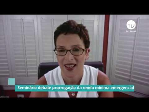 Seminário debate prorrogação da renda mínima emergencial - 10/06/20