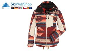 Picture, milk, ski jacket, women, Navajo print red