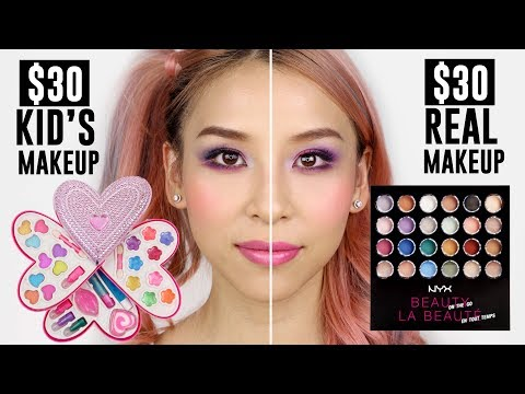 $30 Kid's makeup VS $30 Real Makeup