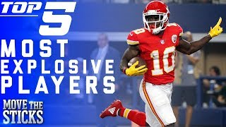 Top 5 Most Explosive Players in the NFL   NFL Highlights