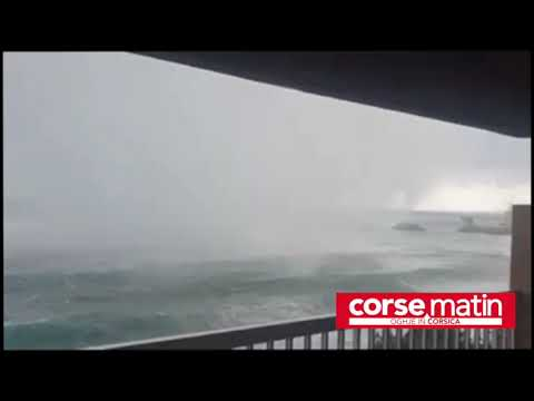 VIDÉO. Haute-Corse : une trombe marine filmée au plus près