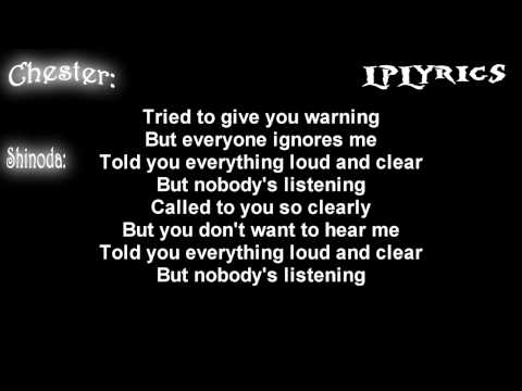 Linkin Park - Nobody's Listening [Lyrics on screen] HD