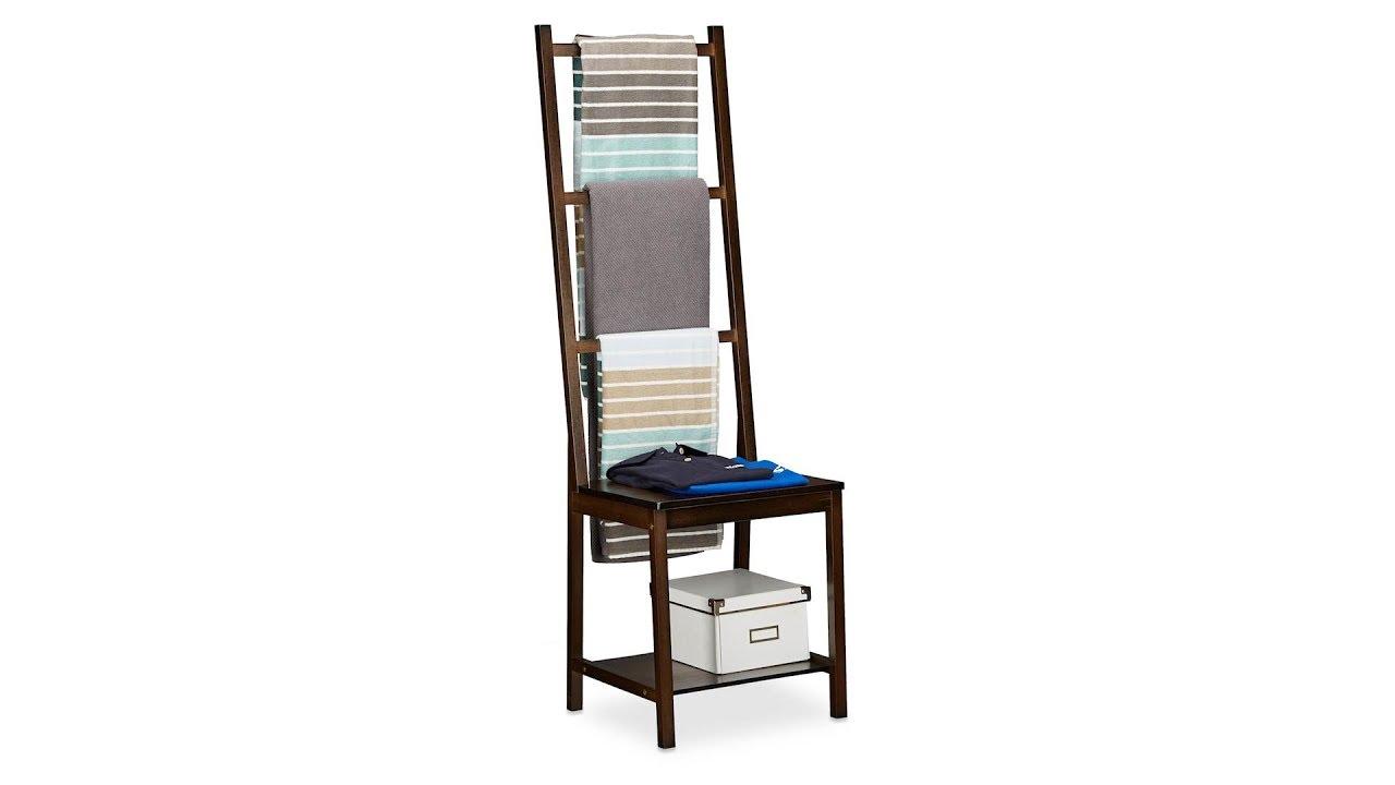 Handtuchhalter Bambus In Dunkelbraun Online Kaufen Relaxdays De