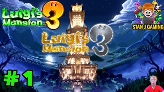 Luigi's Mansion 3 -Let's play Walkthrough Part 1-Welcome to the Last Resort! -Nintendo Switch- StanJ
