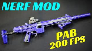 [NERF MOD] PAB Build and Overview (Tactical 3D Printed Nerf Rifle)