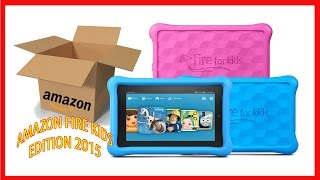"""New 7"""" Amazon Fire Kids Edition 2015 October/November - Unboxing & walk-through"""