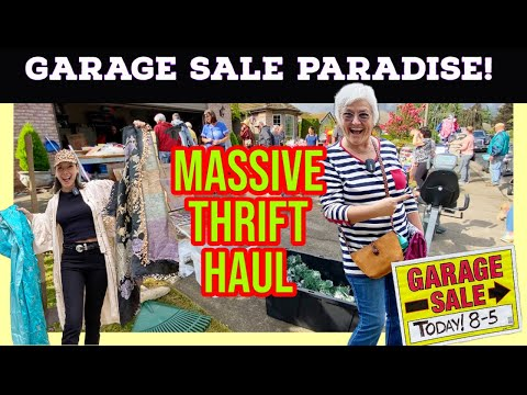 Thrift Shopping at Estate and Garage Sales for Vintage and Antiques - Thrift With Us - Thrift Haul