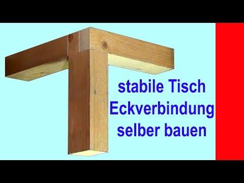 gesägte Eckverbindung aus Holz für Tisch und Regale Kurzfassung