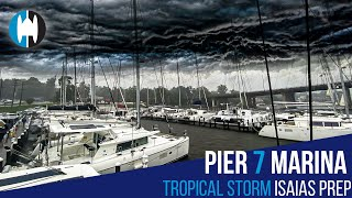 Pier 7 Marina in Annapolis Maryland Keeps Your Catamaran SAFE from TROPICAL STORMS and Hurricanes