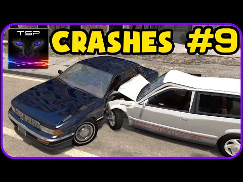 BeamNG Drive - CAR CRASH COMPILATION #9