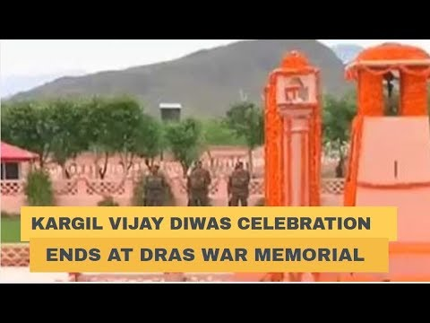 Kargil Vijay Diwas celebration ends at Dras War memorial