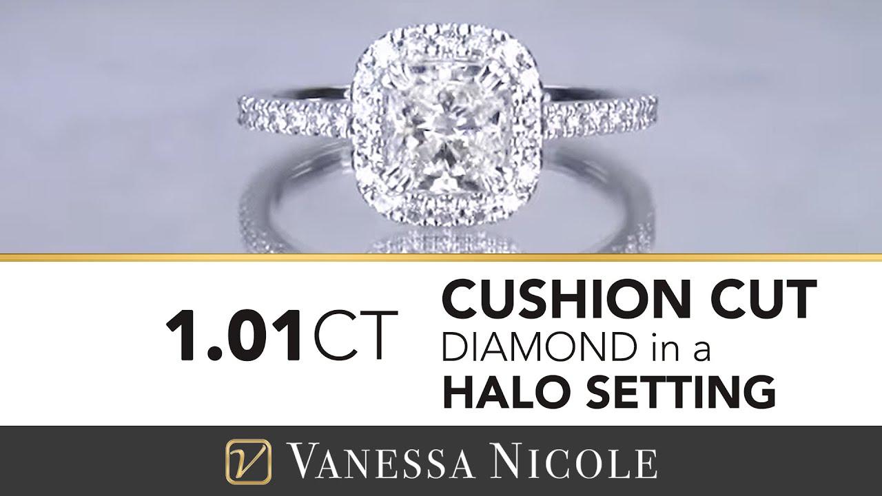 1.01ct Cushion Cut Diamond Ring