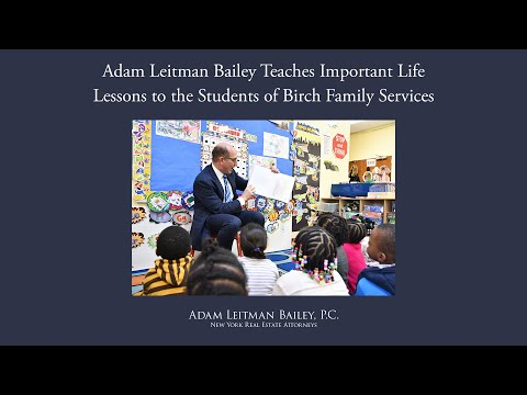 Adam Leitman Bailey Teaches Important Life Lessons to the Students of Birch Family Services testimonial video thumbnail