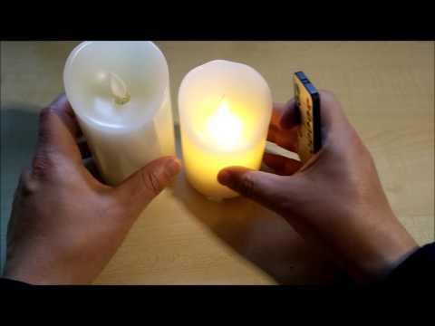 3er Set LED Kerzen mit Echtwachsummantelung inkl. Fernbedienung